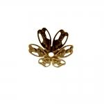 Pitsiline lillekujuline pärlikübar / Bead Cap / 15mm