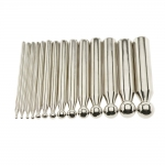 Dapping punch set, 14 pcs, ø3 mm - ø18 mm, PK6410
