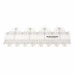 Clear View quilting foot ruler, 10 cm × 25 cm Duroedge KR-2548