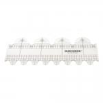 Šabloon-joonlaud vabakäe-teppimiseks, 10 cm × 25 cm Duroedge KR-2548