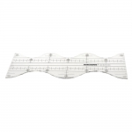 Clear View quilting foot ruler, 9,5 cm × 30 cm, Duroedge KR-2523