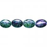 Ovaalsed, lapikud, naturaalsed rubiin-zoitsiit 18x13x5mm helmed
