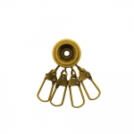 Key holder with 4 swivel, 40 mm