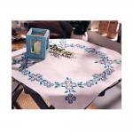 Lihtsate siniste õitega tikkimiskomplekt-linik seeriast My Little Vintage, Duftin Art.10837-AA1790