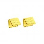 Otsakinnis, paelaotsik(nahkpaela kinnitused); 2tk / Cord End C-Crimp, Dimple Pattern; 2pc / 15x12mm