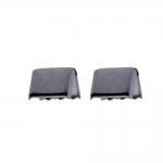 Otsakinnis, paelaotsik(nahkpaela kinnitused); 2tk / Cord End C-Crimp, Dimple Pattern; 2pc / 10x9mm