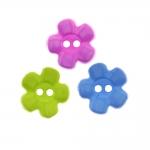 Nööp lilleõis, kahe auguga plastiknööp / Pastic Button / 15mm/24L