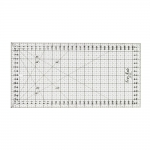 Clear View Plastic Ruler 16cm x 30cm, black on transparent, SewMate #1632