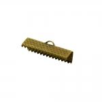 Otsakinnis, paelaotsik(nahkpaela kinnitus)/ Cord End C-Crimp, Dimple Pattern/ 25mm