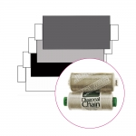 Polyester Sewing Thread for daily use, Coats Diagonal Chain/Ideal, 366m (400y), white, black, grey