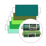 Polyester Sewing Thread for daily use, Coats Diagonal Chain/Ideal, 366m (400y), greenish turquoise, green, olive-green