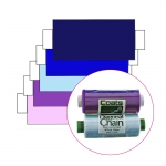 Polyester Sewing Thread for daily use, Coats Diagonal Chain/Ideal, 366m (400y), purple, violet, blue, blue-turquoise