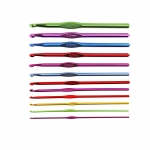 Anodized Light metal Crochet Hooks 12ps set, AF005