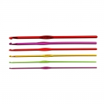 Anodized Light metal Crochet Hooks 6ps set, AF006