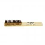 10-row medium soft brass brush, wooden handle, KL0938