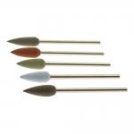 Small Rubber grinding, polishing drill bits, bullet shape, ø5,3mm, EVE (Germany)