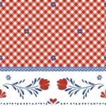 Punaruuduline lilledega vakstu Art.11-W029