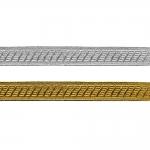 Sissekootud mustriga metallikpael (Jacquard) Art.7577/55347, 2cm