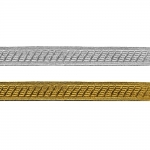 Decorative metallic ribbon Art.7577/55347, 2cm