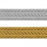 Decorative metallic ribbon Art.7579/55610, 4cm