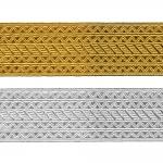 Decorative metallic ribbon Art.8031/551065, 6,5cm