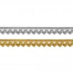 Кружево / вязаное кружево металлизированной золотой нитью Art.7974/55110, 1,5cm
