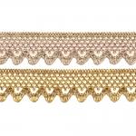 Кружево / вязаное кружево металлизированной золотой нитью Art.7860/55225, 3cm