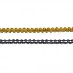 Punutud dekoratiivpael metallikniidist Art.7878/55135 laiusega 0,5cm