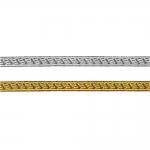 Decorative metallic ribbon Art.7449/55195, 1cm