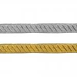 Decorative metallic ribbon Art.7576/55225, 1,5cm