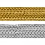 Decorative metallic ribbon Art.7575/55, 5,5cm