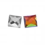 Liimitav, tahuline, ruudukujuline klaaskristall 8x8mm