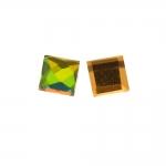 Liimitav, tahuline, ruudukujuline klaaskristall 4x4mm