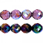 Traditional Czech glass round faceted beads, Jablonex, 16mm
