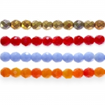Traditional Czech glass round faceted beads, Jablonex, 8mm