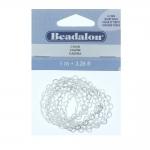 Metallkett südametega / Metal Chain / `Heart Dash`, 4,3mm, 1m / Beadalon (USA)