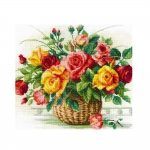 Cross-Stitch Kit Riolis, 1722 Basket With Roses