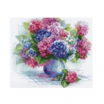 Cross-Stitch Kit Riolis, 1696 Hydrangea