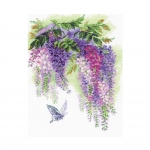 Cross-Stitch Kit Riolis, 1672 Wisteria