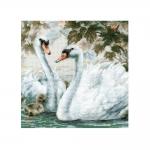 Наборы для вышивки крестом, Белые лебеди, 1726
