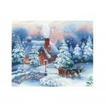 Cross-Stitch Kit RIOLIS Premium 100/041 Christmas Eve