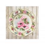 Наборы для вышивания гладью Art.0075 PT Тарелка с розовыми маками. Гладь