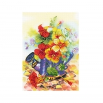 Cross-Stitch Kit Riolis 0068 PT Garden Watering Can