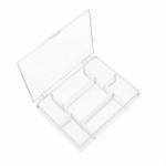 Пластиковая коробка для хранения бусин, страз, бисера 10 x 13 x 2,5см, B-1012