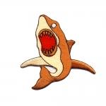 Triigitav Aplikatsioon; Kuri hai 8 x 7,5 cm