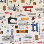 Õmblusmasinate ja õmblustarvikutega paksem puuvillasegu kangas, Loneta Nadel, 140cm, 0138049