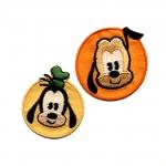Triigitav Aplikatsioon; Pluto ja Goofy 4cm, 2tk