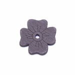Erivärvilised filigraansed puitdetailid / Wooden Flower Pendant / 20 x 2mm