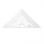 Ruutmärgistusega kolmnurk-joonlaud, 29,5cm × 29,5cm × 42cm malliga, Kearing PMT046