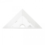 Triangle Plastic Clear View Ruler, 29,5cm × 29,5cm × 42cm malliga, Kearing PMT046